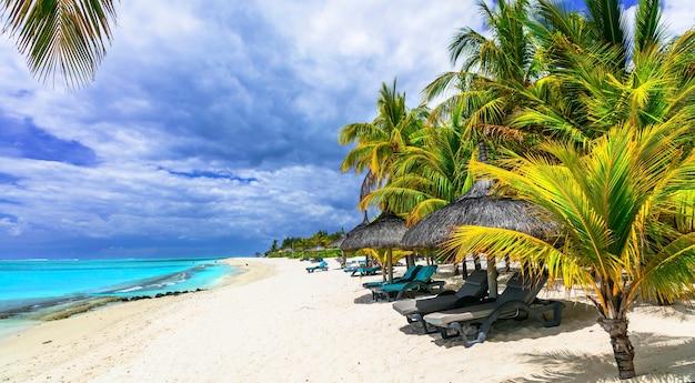 Exotische tropische strände der herrlichen insel mauritius