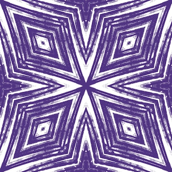 Exotisches nahtloses muster. lila symmetrischer kaleidoskophintergrund. sommer bademode exotisches nahtloses design. textilfertiger erstaunlicher druck, badebekleidungsstoff, tapete, verpackung.
