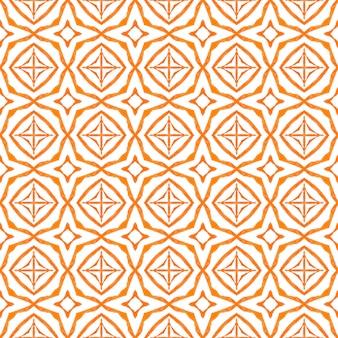 Exotisches nahtloses muster orange ungewöhnlich boho-chic-sommer-design sommer exotische nahtlose grenze textil...