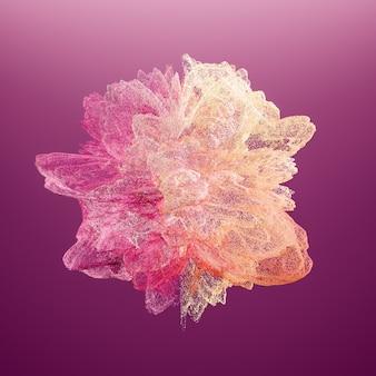 Explosion violetten staub. bewegung des explodierenden farbpulvers einfrieren. illustration