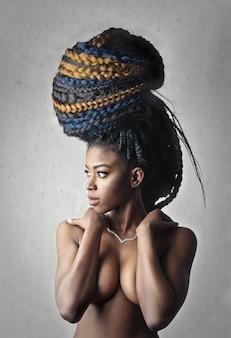 Extreme afroschönheit