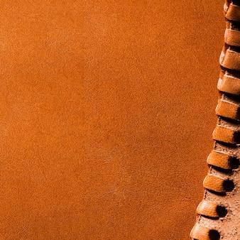 Extreme nahaufnahme orange leder kopierraum