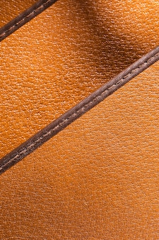Extreme nahaufnahme orange leder mit schichten