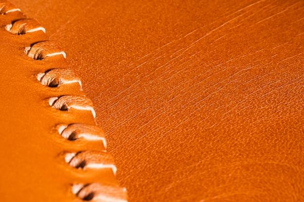 Extreme nahaufnahme orange leder