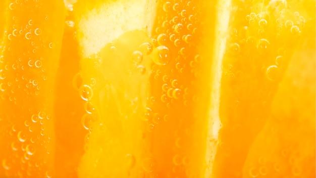 Extreme nahaufnahme orangenfrucht