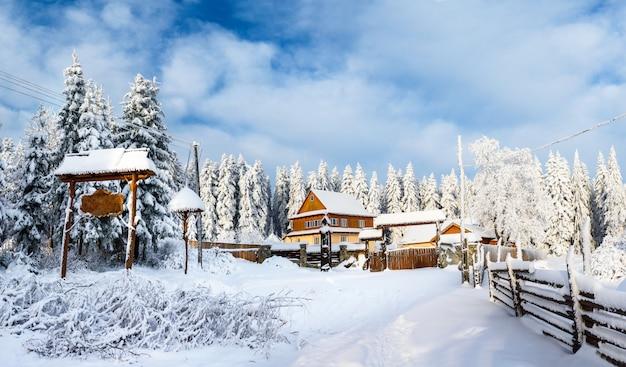 Fabelhafte winterlandschaft
