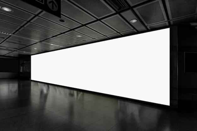 Fabric pop up grundgerät werbebanner media display hintergrund, leer