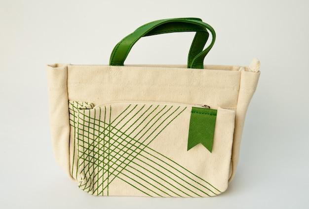 Fabric purse auf weiß