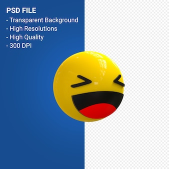 Facebook 3d emoji reaktionen spaß isoliert