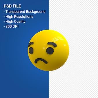 Facebook 3d emoji reaktionen traurig isoliert