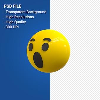 Facebook 3d emoji reaktionen wow isoliert