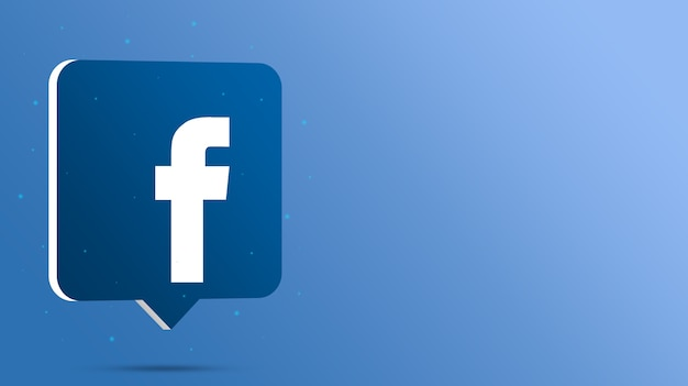 Facebook-logo auf 3d-sprechblase
