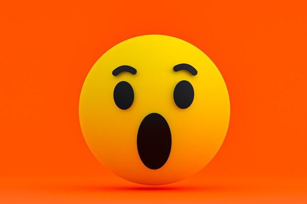 Facebook reaktionen emoji 3d rendern, social media symbol