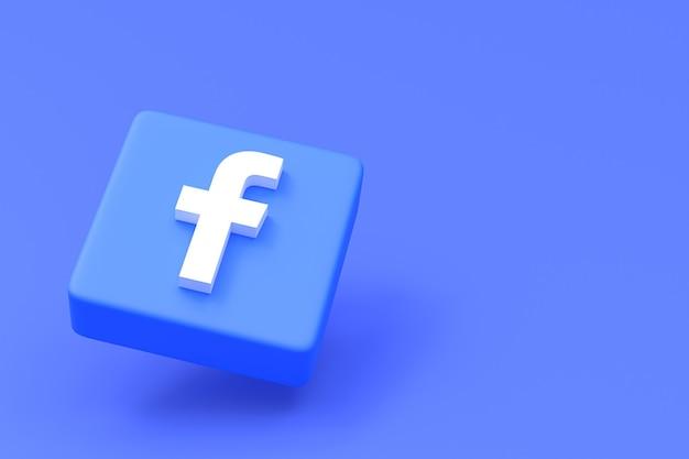 Facebook social media logo in 3d-rendering gesetzt