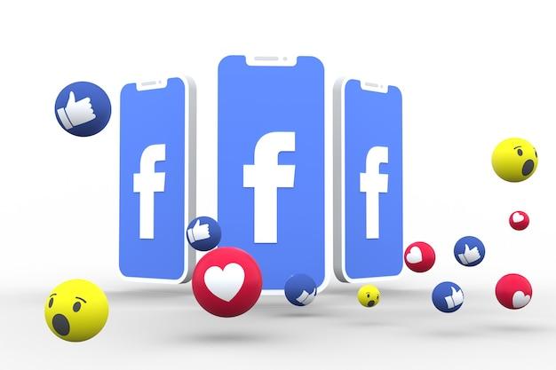 Facebook-symbol 3d rendern