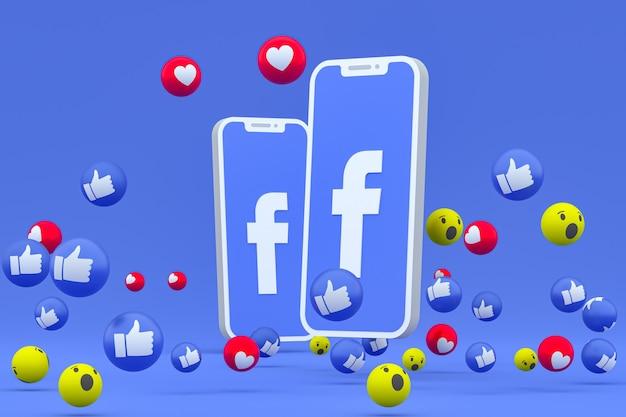 Facebook-symbol auf dem bildschirm smartphone