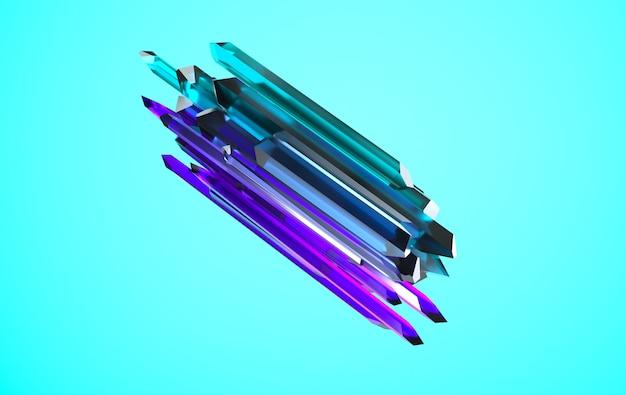 Facettiertes nugget aus lila und grünem edelstein kristallisiert