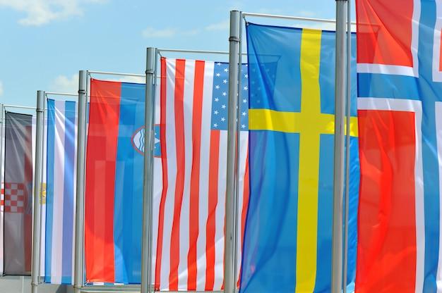 Fahne auf wind