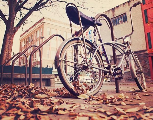 Fahrrad angekettet