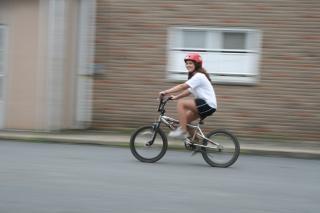 Fahrrad fahren, schnell