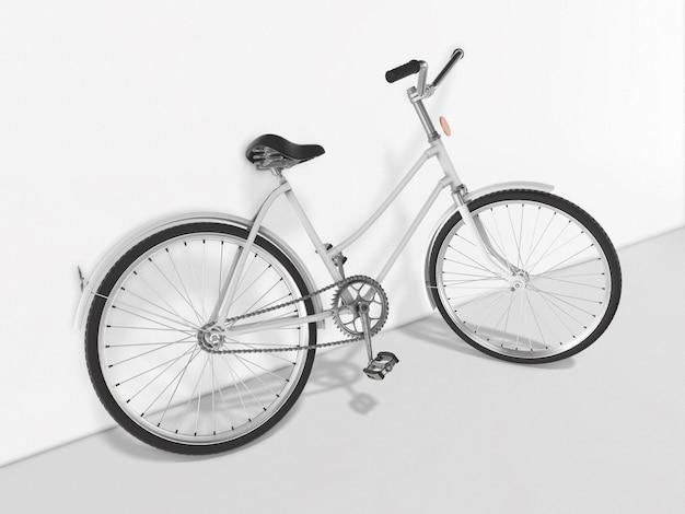 Fahrrad gegen die wand 3d rendering.