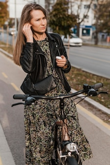 Fahrrad stadtleben musik hören