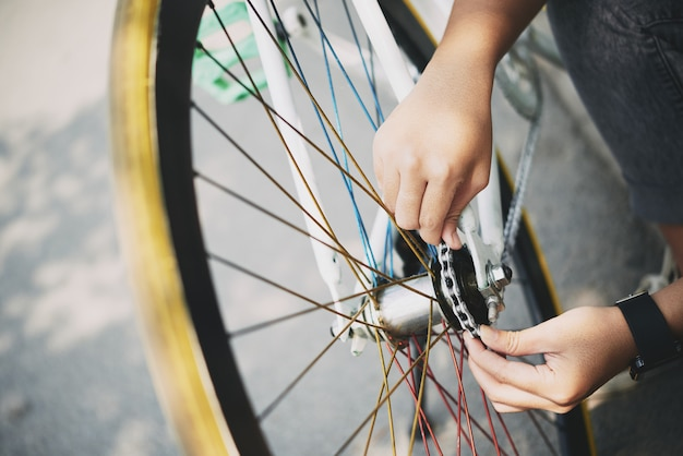 Fahrradkette prüfen