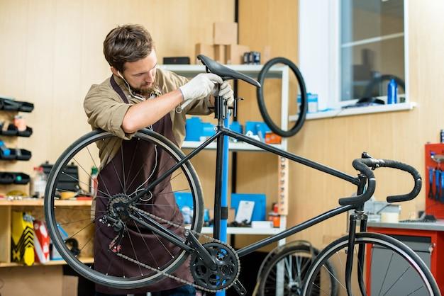 Fahrradsattel einstellen