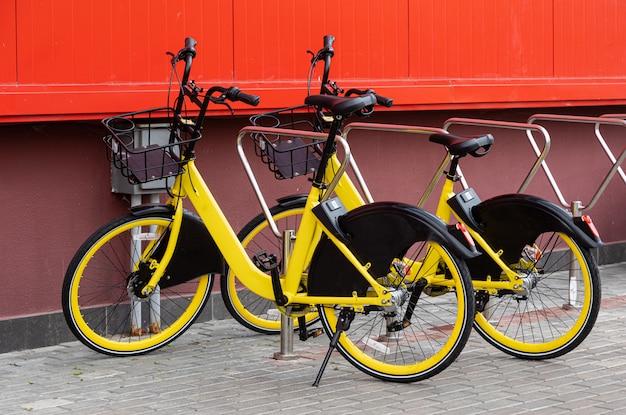 Fahrradverleih, städtisches verkehrssystem, umweltschutz