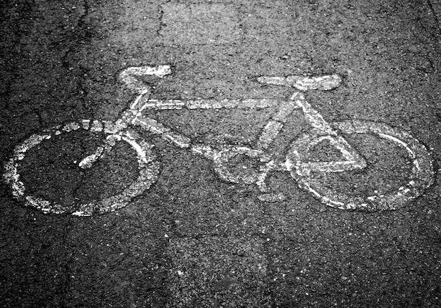 Fahrradweg in der stadtstraße