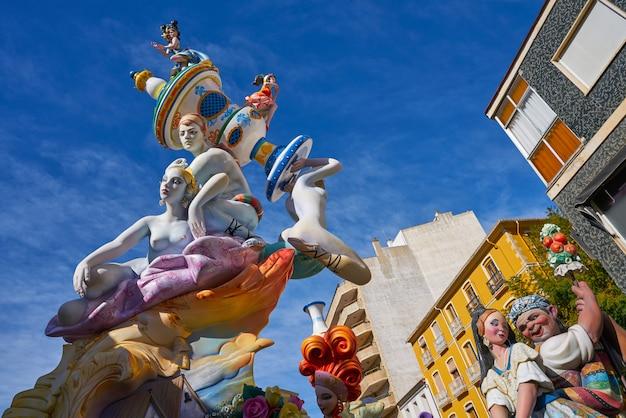 Fallas zahlen in valencia populärem fest spanien