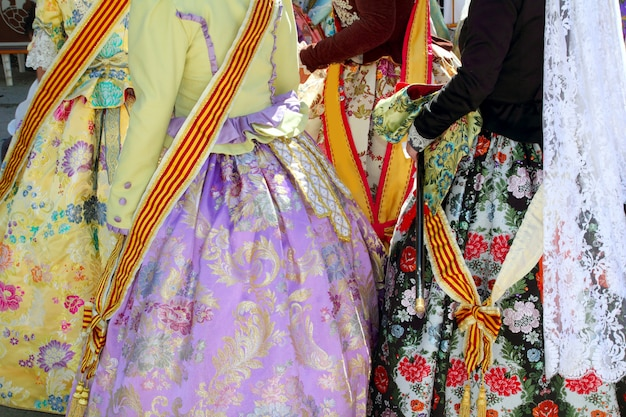 Falleras kostüm fallas kleid detail aus valencia