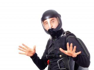 Fallschirmspringer, mann