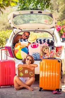 Familie in den sommerferien