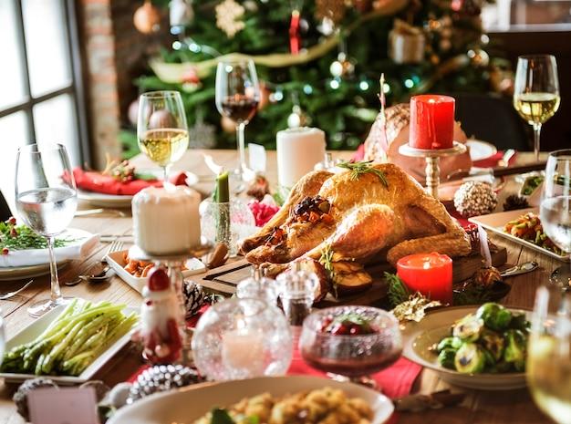 Familien-zusammen weihnachtsfeier-konzept