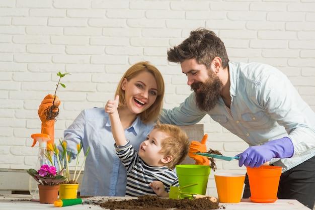 Familiengärtnern zusammen pflanzen familie pflanzen blumen pflegen pflanzen gärtnern entdecken und