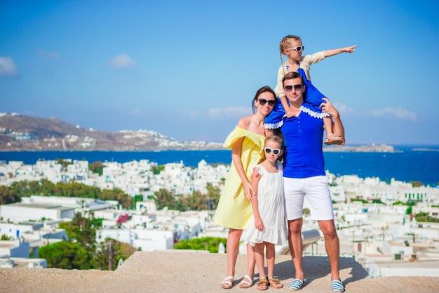 Familienurlaub im freien in europa