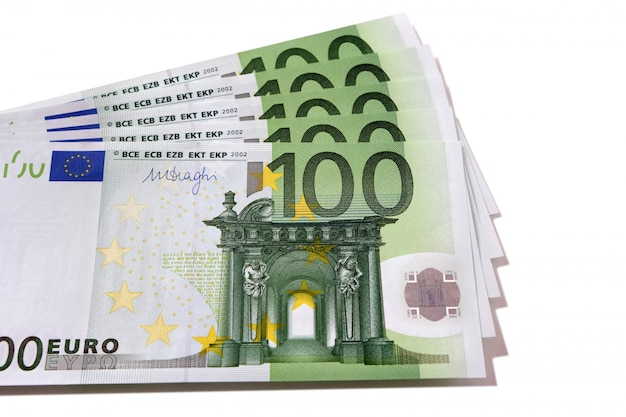 Fan stapel von euro-banknoten