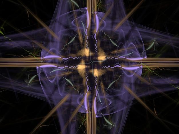 Fantasiereiche üppige fractalbeschaffenheit erzeugter bildzusammenfassungshintergrund