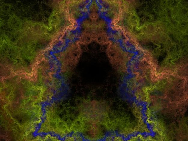 Fantasiereicher üppiger fractalbeschaffenheits-zusammenfassungshintergrund