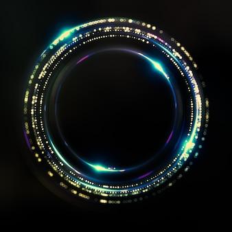 Fantastisch, abstrakt, schwarz, raumhintergrund. 3d-illustration, 3d-rendering.