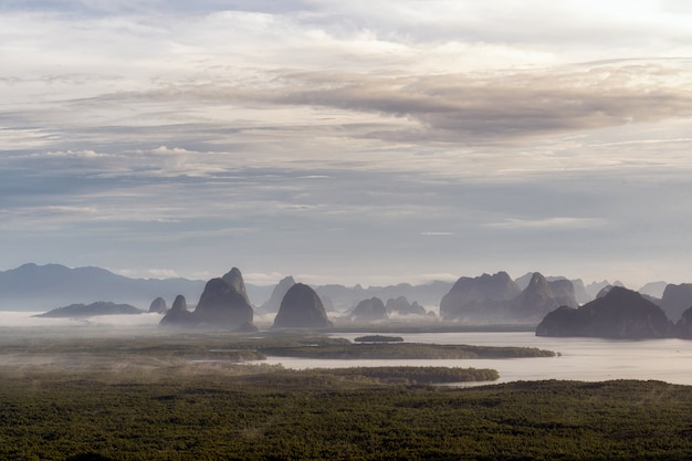 Fantastische landschaft von samed nang cheesichtspunkt