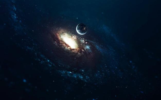 Fantastische spiralgalaxie. weltraum, schönheit des endlosen kosmos. science-fiction-tapete. elemente dieses bildes von der nasa geliefert