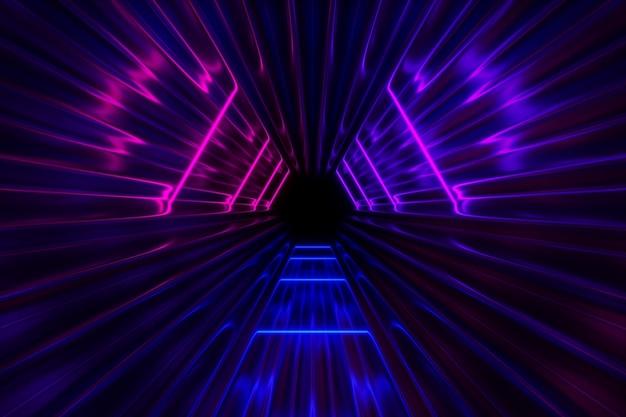 Fantastischer neonlichthintergrund