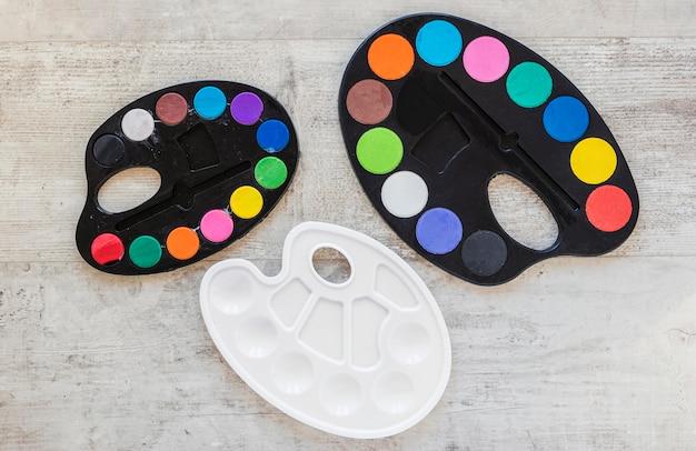 Farbablage-palette von oben