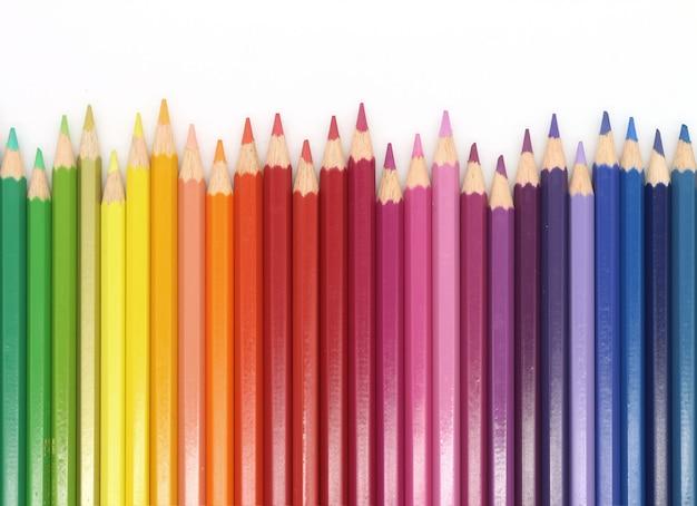 Farbe bunte bleistiftzusammensetzung