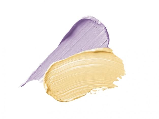 Farbe, welche die abdeckstiftanschläge lokalisiert auf weiß korrigiert