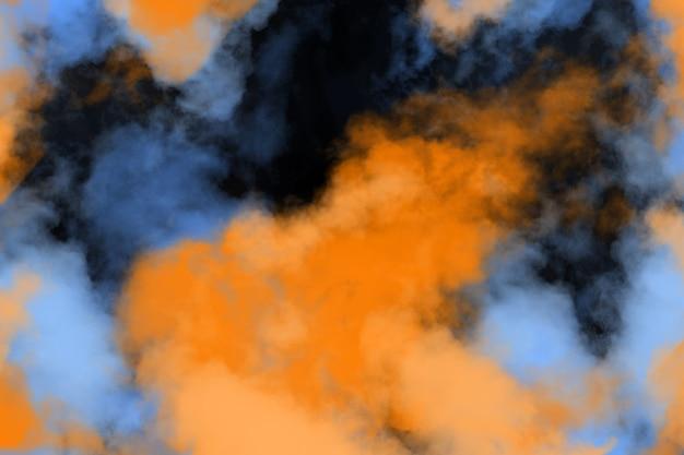 Farben. synth wave und retro wave, futuristische vaporwave-ästhetik. leuchtender neon-stil. horizontale tapete, hintergrund. stilvoller flyer für werbung, angebot, leuchtende farben und rauch-neon-effekt. exemplar.