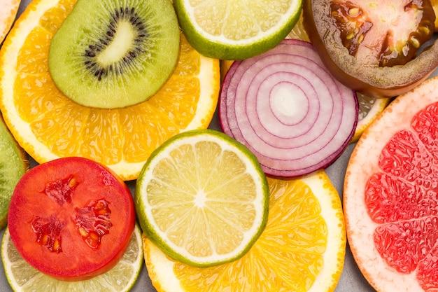 Farbige abstrakte fruchtscheiben Premium Fotos