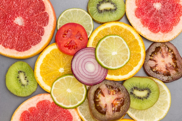 Farbige abstrakte fruchtscheiben